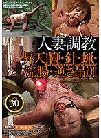 人妻調教 昇天!鞭・針・蠟燭・浣腸・倒吊!!